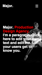 Agency website templates – Production Design Agency