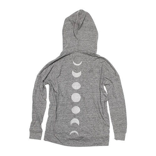Moon Phases Eco-Zip Hoodie