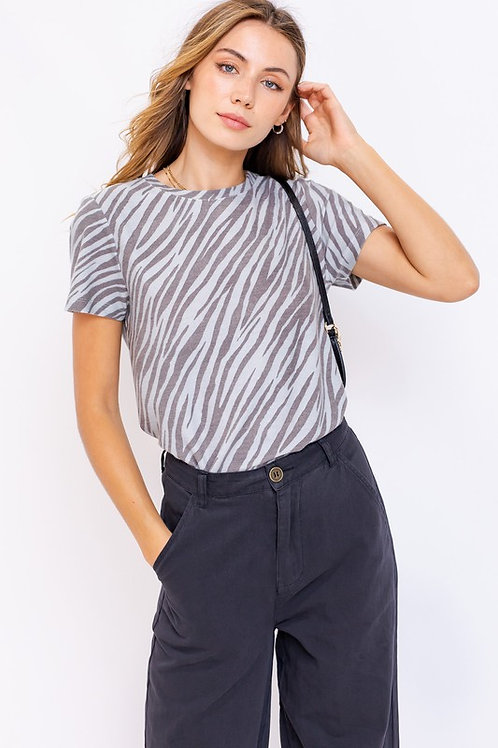 Zebra Print Short Sleeve