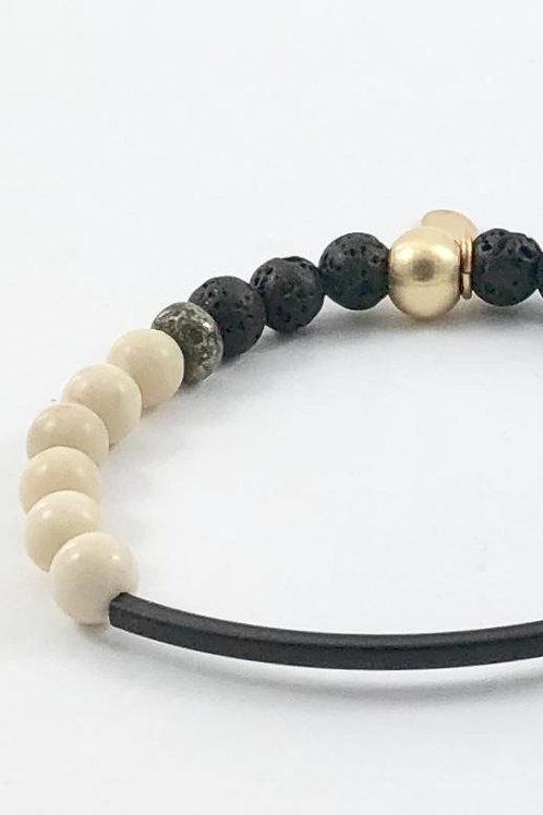 Black Bar Diffuser Bracelet