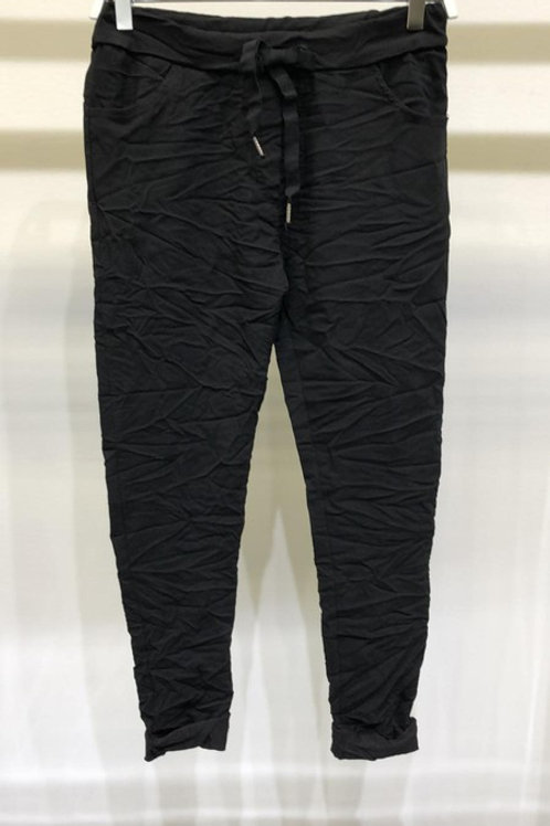 Solid Crinkle Joggers