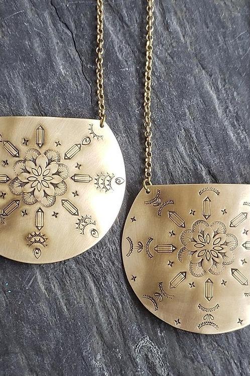Brass Stamped Mandala