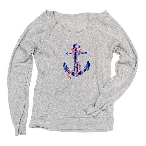 Anchor Boat Neck Sweatshirt