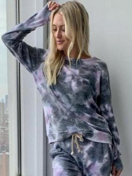 Ink Rose Tie Dye Pullover