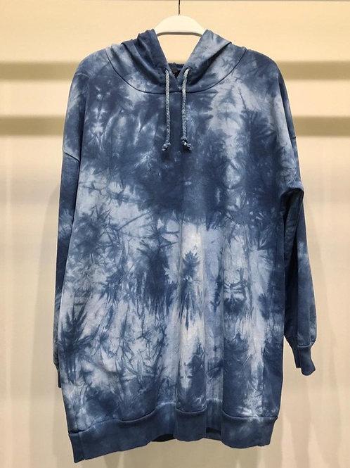 Splash Tie Dye Sweatshirt Dress