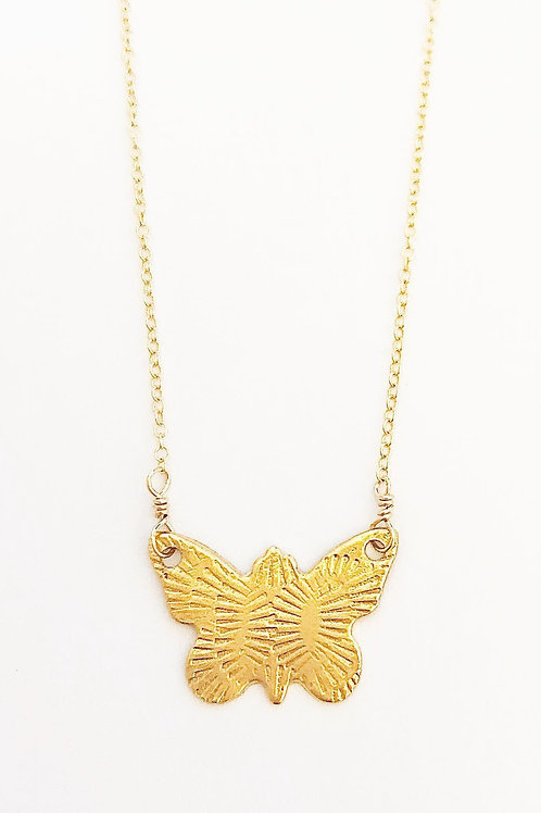 Flickering Butterfly Necklace