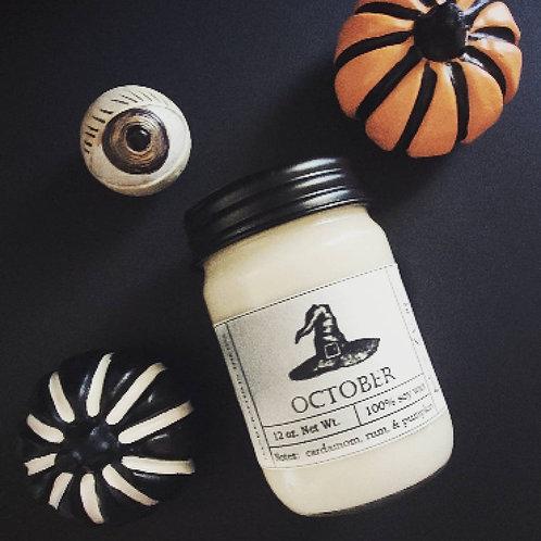 October Pumpkin Candle