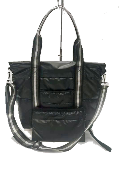 Charcoal Puffer Tote