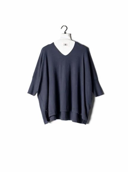 Ribbed Half Sleeve Sweater