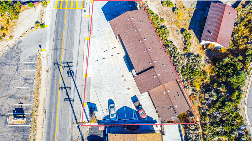 Aerial View of Motel Lot