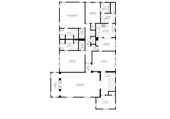 Floor Plan of Upper Unit