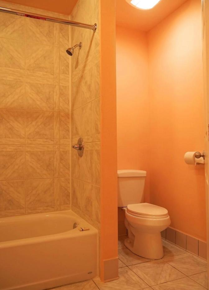 Motel Bathroom Interior