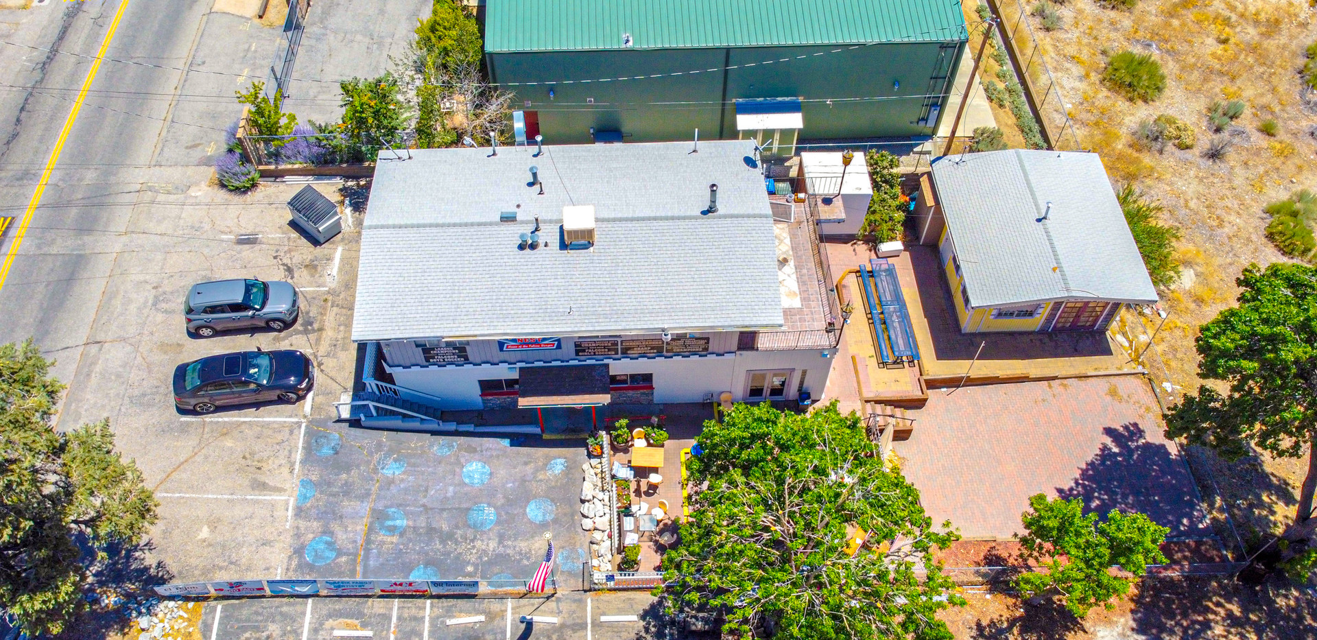 Aerial View of the Mixed Use Property