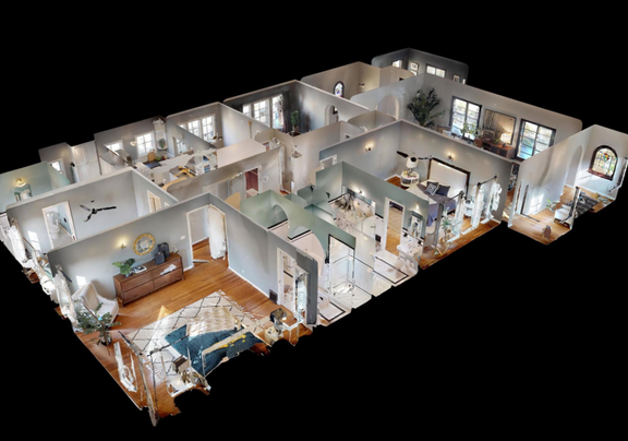 Dollhouse View of Upper Unit