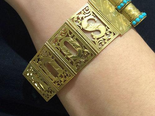 Victorian Rare Novelty Souvenir Transforming Book Bracelet