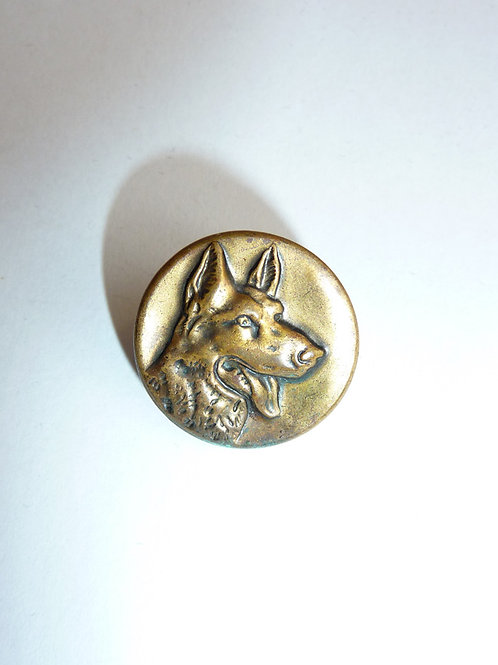 Alsatian Head Button