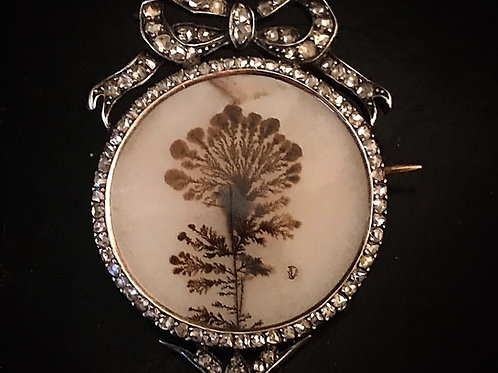 Antique French Dendritic Agate Pendant
