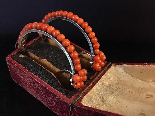 Georgian Poissard Hoop Earrings