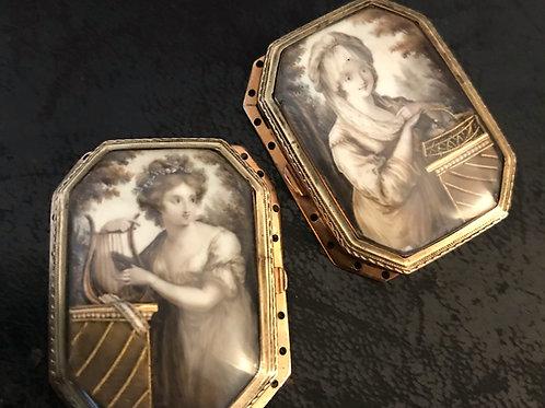 Pair Of Museum Quality Georgian Clasps Circa 1780