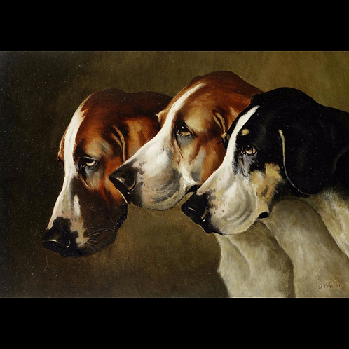 Victorian Oil On Canvas The Trio by Alfred Wheeler