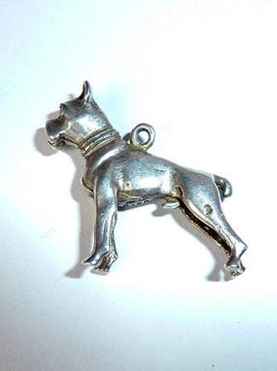 Silver Boxer Charm