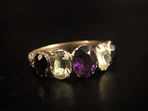 Georgian Five Stone Ring
