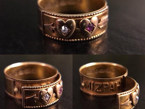 Victorian 18 carat gold secret compartment ring