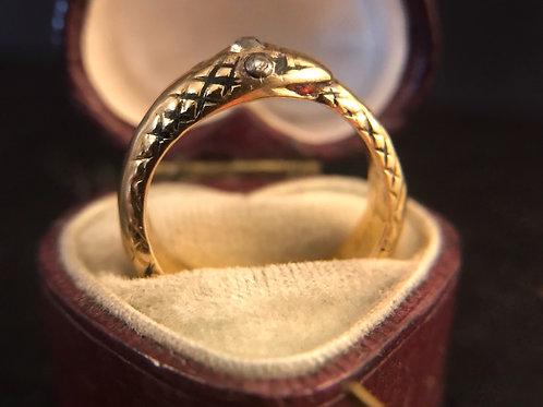 Georgian ouroboros ring