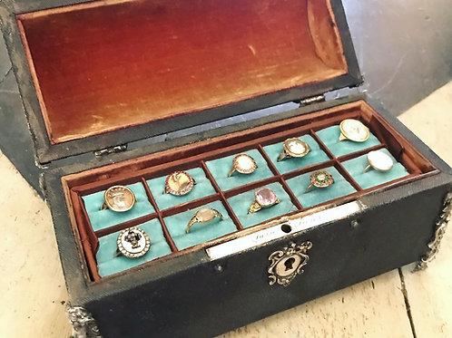 Antique Shagreen Ring Casket