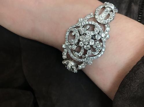 Victorian Old Cut Diamond Bracelet With Pendant Option