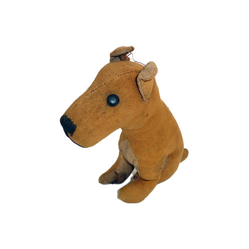 Vintage Seated Dog Soft Toy Circa 1950