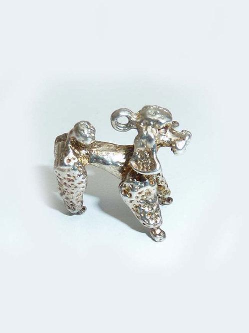 Vintage Silver Poodle Charm