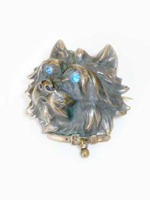Victorian Terrier Brooch