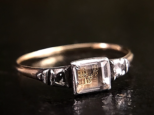 Stuart Crystal Ring With Diamond Shoulders
