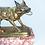 Thumbnail: Antique French Gilt Hound Watch Holder
