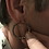 Thumbnail: Rare Poissarde Georgian Paste Hoop Earrings