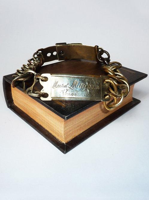 Rare French 19C Metal Dog Collar