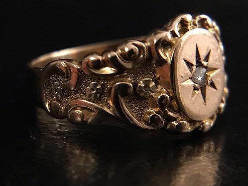 Victorian 3 col high carat ring