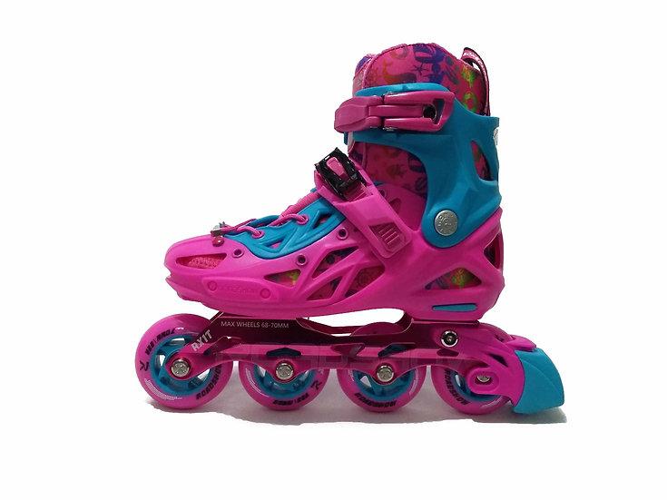 Patines Free skate de talla Ajustable Rosa