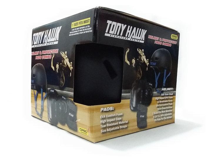Tony Hawk Combo de casco mas set de protecciones