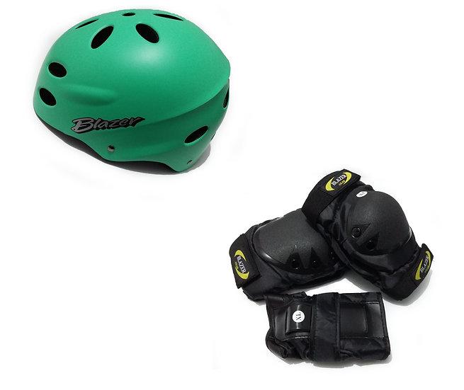 Combo de casco mas set de protecciones