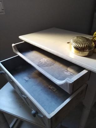 escritorio pasamanería con 2 cajones abi