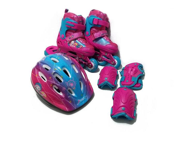 Patines Infantiles con casco y protecciones