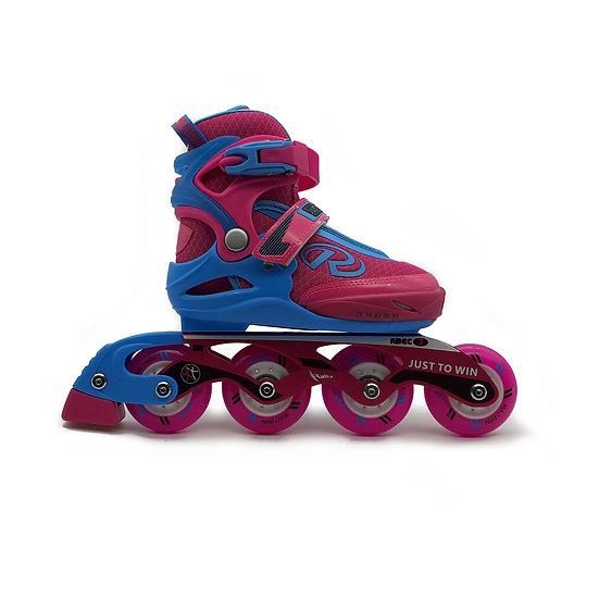 Patines de fitness reforzados infantiles Azul