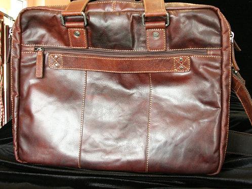 Buffalo Leather Large Travel Briefcase
