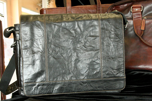 Large Buffalo Leather Messenger Bag