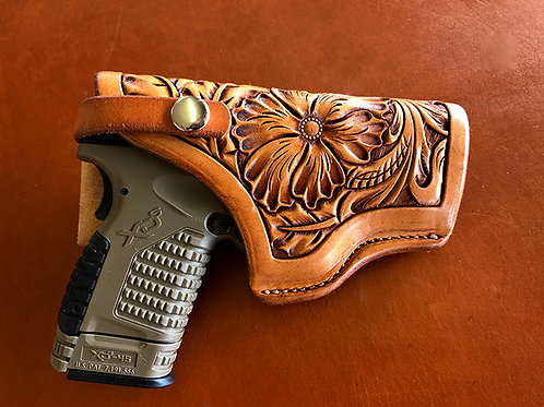 Flower Carved Holster
