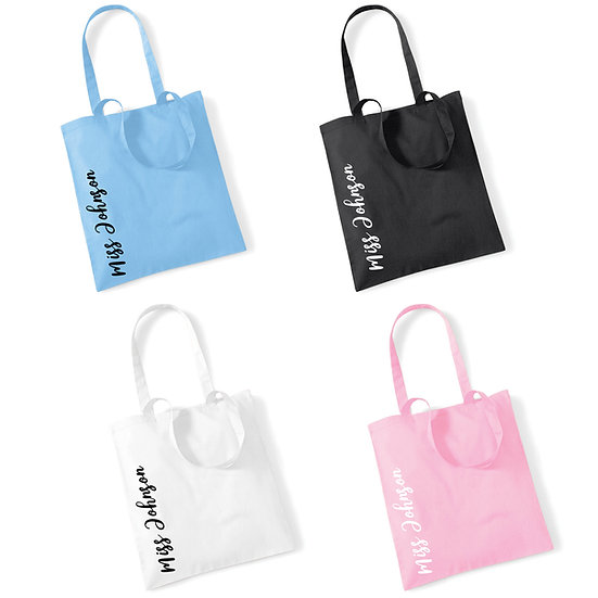 Personalised Teacher or Teaching Assistant Tote Bag