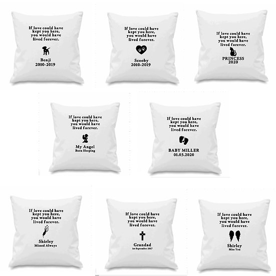 Personalised Memorial Cushion Cover