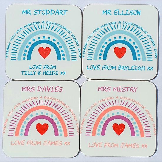 Personalised Teacher Coaster